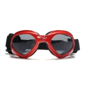 NO:1 Fashionable Waterproof Pet Dog Doggles Sunglasses Eye UV Protection Goggles Red