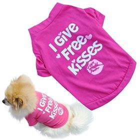 Binmer(TM)Fashion Pet Dog Clothes Cat Puppy Pet Puppy Spring Summer Shirt Small Pet Clothes Vest T Shirt (S)