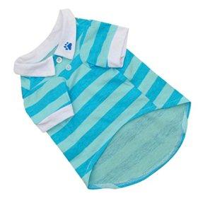 Binmer(TM)New Cute Dog T-Shirt Clothes Lapel Stripe Cotton Puppy Pet Dog Clothes Summer Spring Hot (SkyBlue, M)