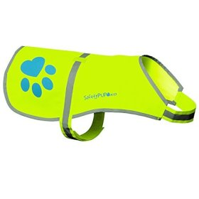 Dog Reflective Vest, Sizes to Fit Dogs 14 lbs to 100 lbs – SafetyPUP XD Hi Vis, Safety Vest Keeps Dogs Visible On and Off Leash in Both Urban and Rural Environments. (Neon Yellow, Large) Large Fits Dogs 61lbs – 95lbs