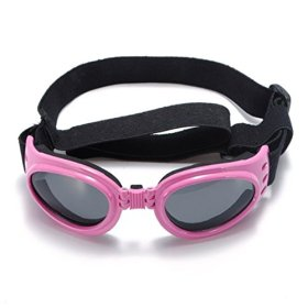 YRK Multi-Color Fashionable Puppy Water-Proof UV Goggles Pet Dog Sunglasses Eye Wear Protection Goggles Medium (Pink)
