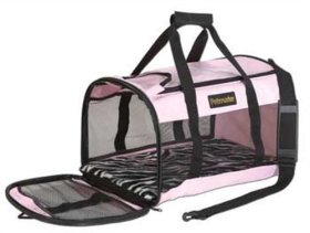 Petmate Soft-Sided Kennel Cab Pet Carrier, Large, Pink
