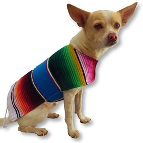 Chihuahua Clothes – Handmade Dog Poncho From Authentic Mexican Blanket. Dog Apparel with Adjustable Neck and Chest. Dog Clothes for Small and Medium Size Dogs. Pets Clothes – Puppy Clothes – Premium Quality Dogs Clothes By K9 Ponchos. (Fringed Edge, Small)