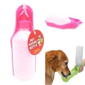 PETS DOG WATER BOTTLE BOWL PORTABLE DRINK DISH CAT BIRD TRAVEL FEEDING PUPPY NEW