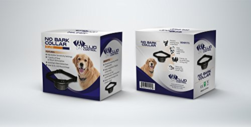 Cujo Control Anti Bark Collar-Best No Bark Collar for Small Breeds, Medium & Large Dogs-Fully Adjustable Electric E Collar with Adjustable Sensitivity Control Settings-Best Puppy Training and Dog Obedience Training Dog Bark Collar-Water Resistant Anti Bark Device With 7 Tone & Electric Shock Levels-100% Satisfaction Dog Collar Training Best Lifetime Guarantee!
