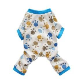 Fitwarm® Adorable Paws Dog Pajamas for Dog Shirt Cozy Soft Dog Pjs Dog Clothes, Large