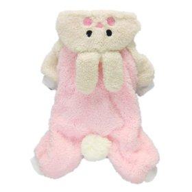 Adorable Bunny Halloween Dog Costumes Dog Hoodie Jumpsuit Dog Coat Pet Dog Clothes,Pink,M