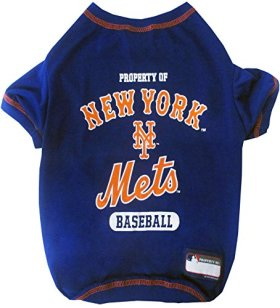 Pets First MLB New York Mets Dog Tee Shirt, Small