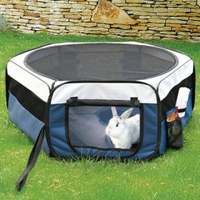 Soft Sided Mobile Play Pet Pen Size: Large (21.5″ H x 51″ W x 51″ L)