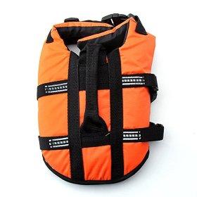 Pet Lifte Preserver – All Sizes – Dog Life Vest Jacket Doggy Life Jacket (Orange, Medium)