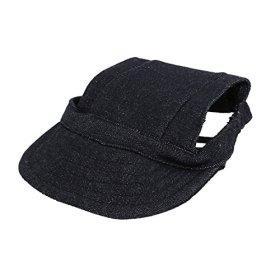 Elastic Chin Strap Pet Baseball Cap Visor Hat Dark Blue
