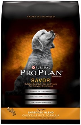 Purina Pro Plan Dry Dog Food, Savor, Puppy Shredded Blend Chicken & Rice Formula, 34-Pound Bag, Pack of 1