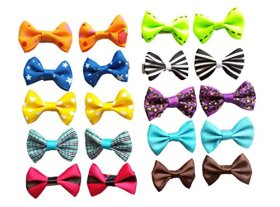BysitShow Baby Dog Hair Clips Pet Cat Puppy Grooming Bows Accessories Pack of 20 Matching Color