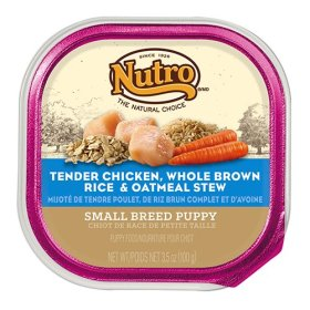 The Nutro Company Small Breed Puppy Food with Chicken, Oatmeal and Whole Brown Rice Recipe, 3.5-Ounce