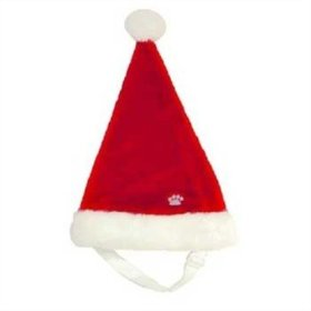 Outward Hound Kyjen  30038 Dog Santa Hat Holiday and Christmas Pet Accessory, Small, Red, Red