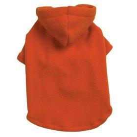 Casual Canine Polyester Basic Fleece 14-Inch Dog Hoodie, Small/Medium, Orange