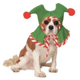Santa's Elf Hat Pet Accessory