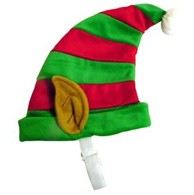 Outward Hound Kyjen  30033 Dog Elf Hat Holiday and Christmas Pet Accessory, Large, Red and Green