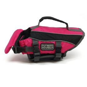 Outward Hound Kyjen 2527 Dog Life Jacket Quick Release Easy-Fit Adjustable Dog Life Preserver, Extra Small, Pink