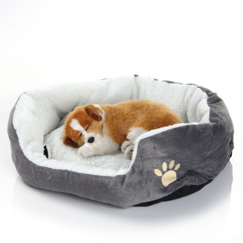 Masione Pet Bed Sofa House Mat Pad for Cat Dog Puppy 18-Inch by 17-Inch By 6-Inch (Grey)