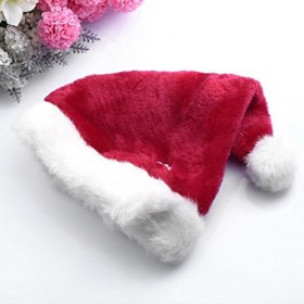 FUNLAVIE®Dog Santa Hat Pet Party Holiday Hat,Christmas Party, Red-Large Size