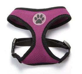 BINGPET BB5001 Soft Mesh Dog Puppy Pet Harness Adjustable – Purple