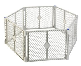 North States Superyard Play Yard, Grey, 6 Panel (Discontinued by Manufacturer)