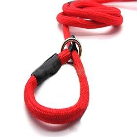 Adjustable Pet Puppy Dog Cat Nylon Leash Training Collar Neck Guide Strap 130cm Red
