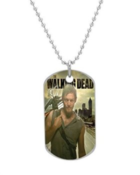 Daryl Dixon The Walking Dead Customized design personalized unique OvaL Dog Tag Pet Tag Cat Animal Tag necklace pendant Bead Chain