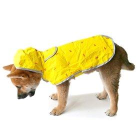 Moonshuttle Breathable Featherlight Dog Rain Coat Poncho made with DuPont Technology – Yellow (Medium)