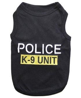 Parisian Pet Police Dog T-Shirt, X-Small