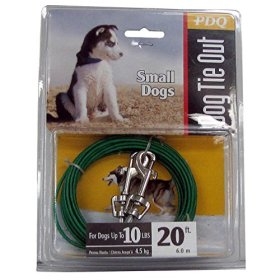 Boss Pet Products Q2220-000-99 Puppy Tie Out Cable 20′