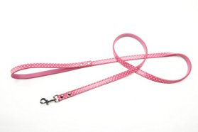 BingPet BA2028 Polka Dots Leather Pet Puppy Dog leash