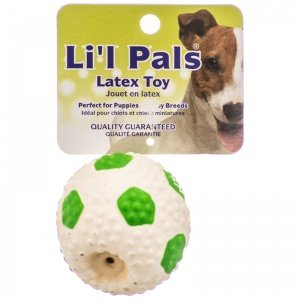 Lil Pals – Latex Soccer Ball, Perfect for Puppies and Toy Breeds, Green