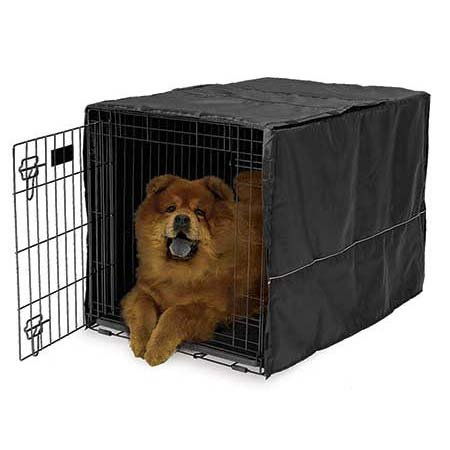 Quiet Time Crate Cover Black Polyester 36″ x 23.5″ x 24″ by Midwest