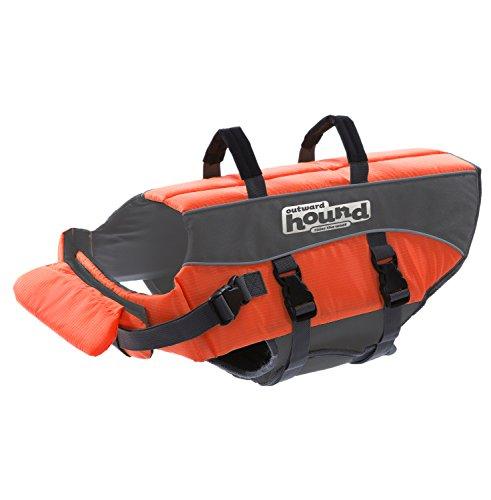 Outward Hound Kyjen  22019 Ripstop Dog Life Jacket Quick Release Easy-Fit Adjustable Dog Life Preserver, Small, Orange