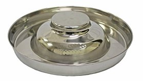 Fuzzy Puppy Pet Products PS-15 Puppy Saucer Dog Bowl with Raised Center, 15″