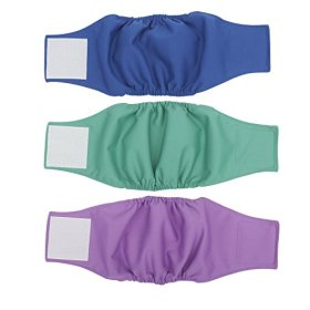 Wegreeco Washable Dog Diapers – Washable Male Dog Belly Wrap- Pack of 3,(small 14″-17″waist)
