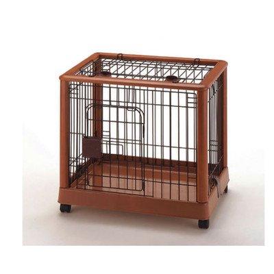 Hardwood Mobile Pet Crate Size: Medium