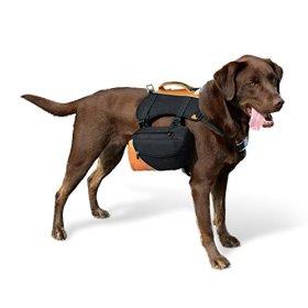 Kurgo 50-110 lb Big Baxter Dog Backpack, Large, Black/Orange