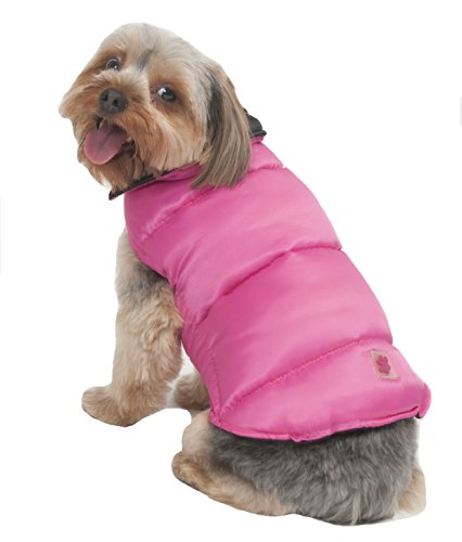Fashion Pet Reversible Arctic Dog Coat, Medium, Pink