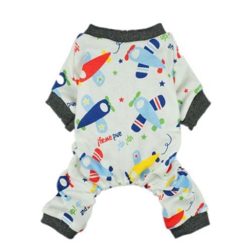 Fitwarm Adorable Soft Planes Dog Pajamas for Pet Cat Dog Pjs Clothes, XX-large