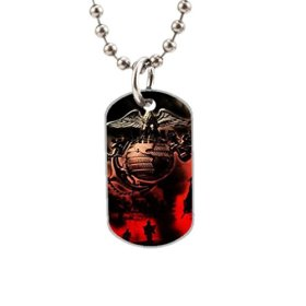 US Marine Corp Fashion Image Custom Unique Personalized Dog Tag Necklaces, dogtag size About 1.3X 2.2 inches Ideal Gift