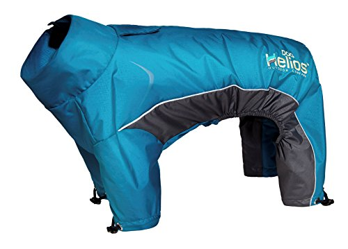 Helios Blizzard Full-Bodied Adjustable and 3M Reflective Dog Jacket, Blue, SM