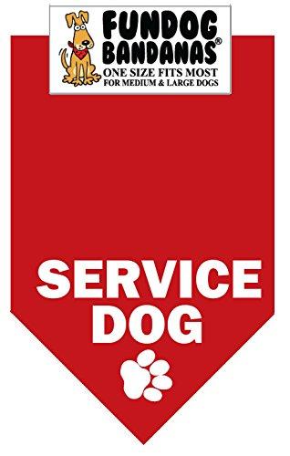 BANDANA – Service Dog for Medium to Large Dogs – red