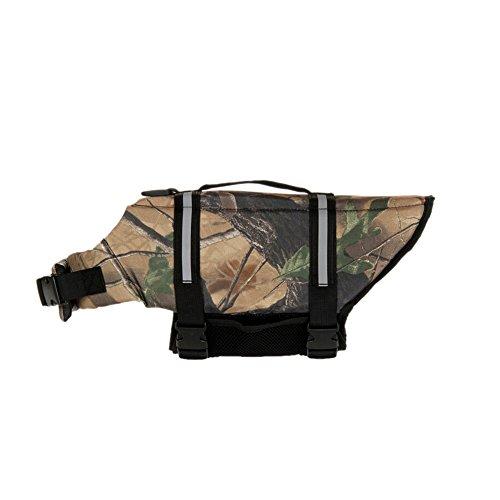 GOGO Hound Life Jacket, Dog Saver Life Vest LIGHTCAMO-L