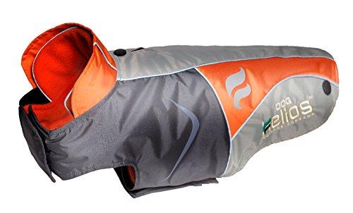 Helios Lotus-Rusher Waterproof 2-in-1 Convertible Dog Jacket w/ Blackshark technology, Orange, Charcoal Grey, Light Grey, LG