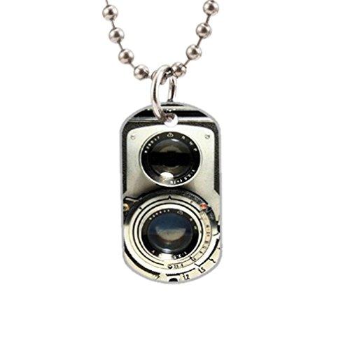 Vintage Camera Fashion Image Custom Unique Personalized Dog Tag Necklaces, dogtag size About 1.3X 2.2 inches Ideal Gift