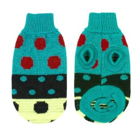 Pet Dog Chihuahua Clothes Sweater Teal Green Winter Knitwear XXS