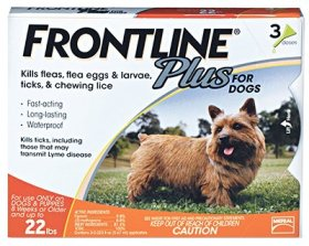 Flea Control Plus for Dogs And Puppies 0-22 lbs 3 Pack